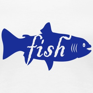 Fisch / fish (text, 1c) T-Shirts - Women's Premium T-Shirt