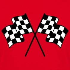 Checkered Flags 2 color T-Shirts