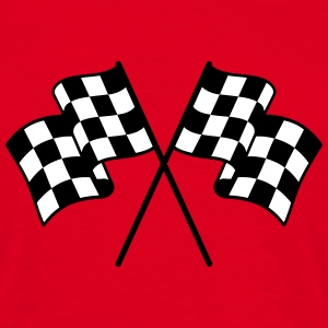 Checkered Flags 2 color T-Shirts - Men's T-Shirt