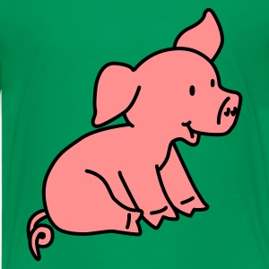 Happy Pig - Teenage Premium T-Shirt