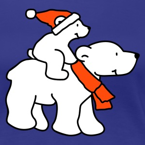 Christmas Polar Bears - Women's Premium T-Shirt