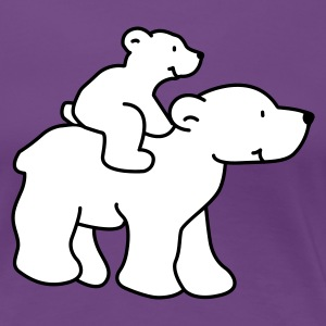 Happy Polar Bears - Women's Premium T-Shirt