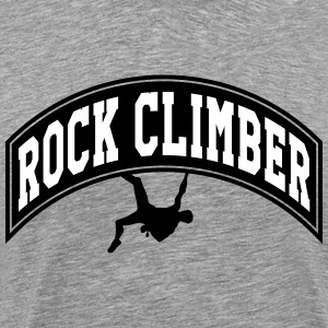 Rock climber T-Shirts - Men's Premium T-Shirt