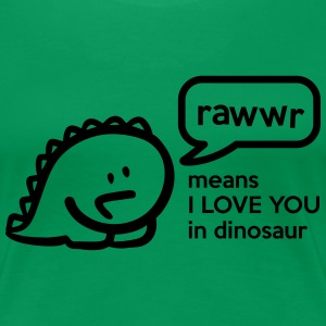 Rawr means I LOVE YOU in dinosaur T-Shirts - Women's Premium T-Shirt