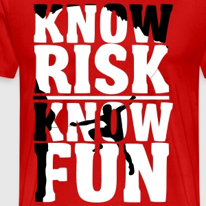 Climbing: Know risk know fun Tee shirts - T-shirt Premium Homme