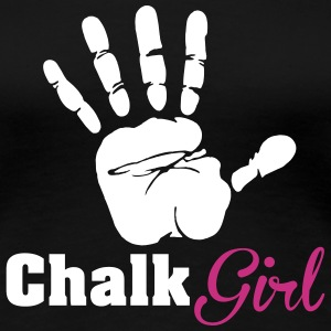 Climbing: Chalk Girl T-Shirts - Frauen Premium T-Shirt