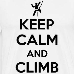 Keep calm and climb Koszulki - Koszulka męska Premium