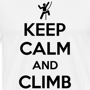 Keep calm and climb T-shirts - Mannen Premium T-shirt