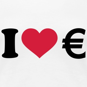 I love Euro T-Shirts - Frauen Premium T-Shirt