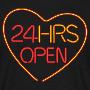 24 hours open love - Mannen T-shirt