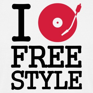 I dj / play / listen to free style - T-shirt herr