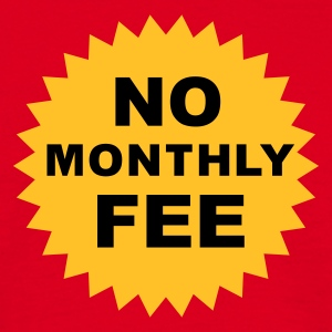 no monthly fee - T-skjorte for menn