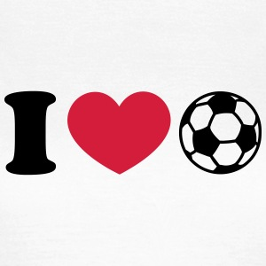Soccer Football Heart I like love world champion  T-skjorter - T-skjorte for kvinner