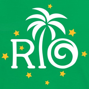 RIO Brazil Palm Star Football World Cup Champion T-shirts - Vrouwen contrastshirt