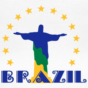 Brazil Brasil Christ star football world champion Camisetas - Camiseta mujer