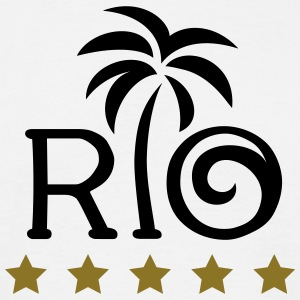 RIO Brazil Palm Holiday Summer Sun 5 Star Beach  T-shirts - Mannen T-shirt
