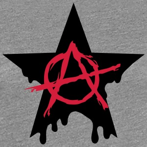 Anarchy star chaos symbol rebel revolution punk Camisetas - Camiseta premium mujer
