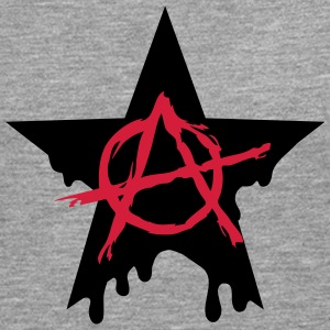 Anarchy star chaos symbol rebel revolution punk Long sleeve shirts - Men's Premium Longsleeve Shirt