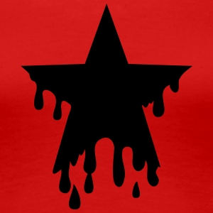 Star punk blood anarchy symbol revolution against T-shirts - Vrouwen Premium T-shirt