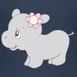 Cute Hippy Hippo Girl Shirts - Kids' Premium T-Shirt