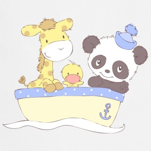 Giraffe, Duckling and Panda in Boat  Aprons - Cooking Apron