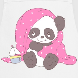 Cute Panda covered with blanket  Aprons - Cooking Apron