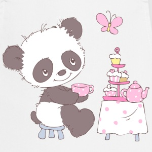 Cute little panda with cupcakes  Aprons - Cooking Apron