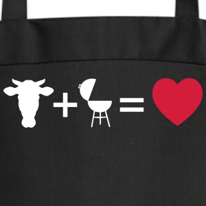 beef & bbq = love  Aprons - Cooking Apron
