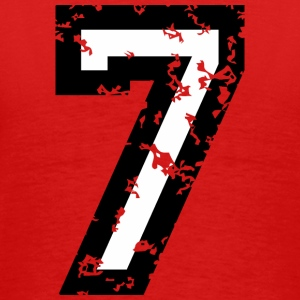 The Number Seven - No. 7 (two-color) white T-Shirts - Men's Premium T-Shirt