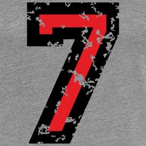 The Number Seven - No. 7 (two-color) red T-Shirts - Women's Premium T-Shirt