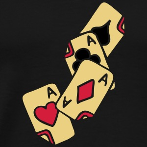 Poker Cards Game Ace Heart Spade Cross Caro Tattoo T-Shirts - Männer Premium T-Shirt