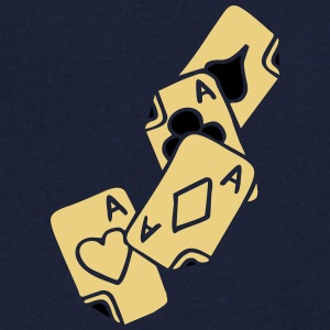 Poker Cards Game Ace Heart Spade Cross Caro Tattoo T-Shirts - Männer T-Shirt mit V-Ausschnitt