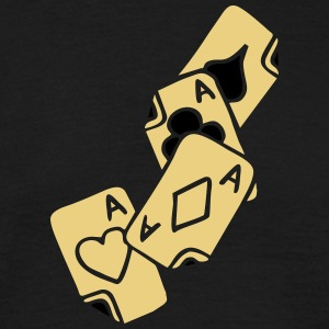 Poker Cards Game Ace Heart Spade Cross Caro Tattoo T-shirts - T-shirt herr