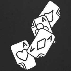 Poker Cards Game Ace Heart Spade Cross Caro Tattoo T-shirts - T-shirt med v-ringning herr