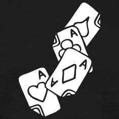 Poker Cards Game Ace Heart Spade Cross Caro Tattoo T-Shirts
