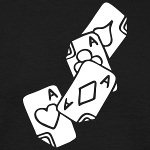 Poker Cards Game Ace Heart Spade Cross Caro Tattoo T-Shirts - Männer T-Shirt