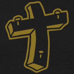 Kreuz Nägel Religion Jesus Tattoo crucifix christ T-shirts - T-shirt herr