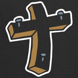 Kreuz Nägel Religion Jesus Tattoo crucifix christ T-Shirts - Men's V-Neck T-Shirt