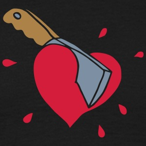 Broken Hearts Love Hate Axe Knife Messer Axt Kill Camisetas - Camiseta hombre