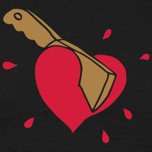Broken Hearts Love Hate Axe Knife Messer Axt Kill T-shirts - T-shirt herr