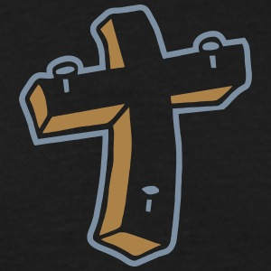 Kreuz Nägel Religion Jesus Tattoo crucifix christ T-Shirts - Men's T-Shirt