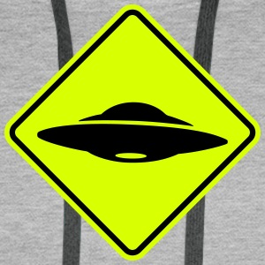 ufo road sign Hoodies & Sweatshirts - Men's Premium Hoodie