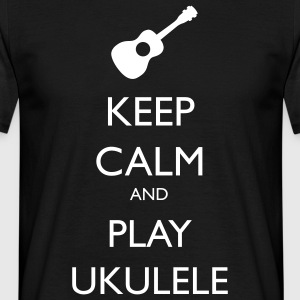 keep calm and play ukulele Tee shirts - T-shirt Homme
