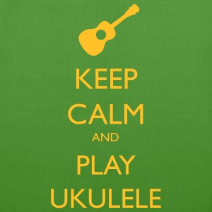 keep calm and play ukulele Bags & backpacks - EarthPositive Tote Bag