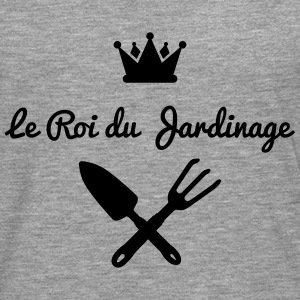 roi jardinage version 1 Tee shirts manches longues - T-shirt manches longues Premium Homme