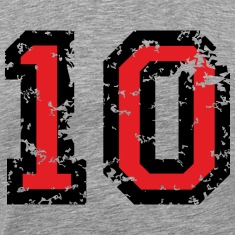 The Number Ten - No. 10 (two-color) red T-Shirts