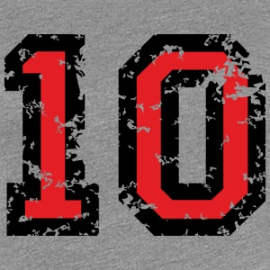 The Number Ten - No. 10 (two-color) red T-Shirts - Women's Premium T-Shirt