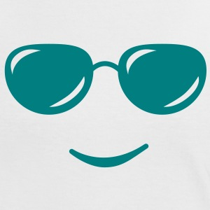 sunglasses smile reflection T-skjorter - Kontrast-T-skjorte for kvinner