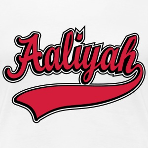 Aaliyah - Name as a sport swash T-Shirts - Women's Premium T-Shirt