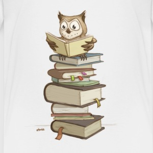 Bücher-Eule T-Shirts - Teenager Premium T-Shirt